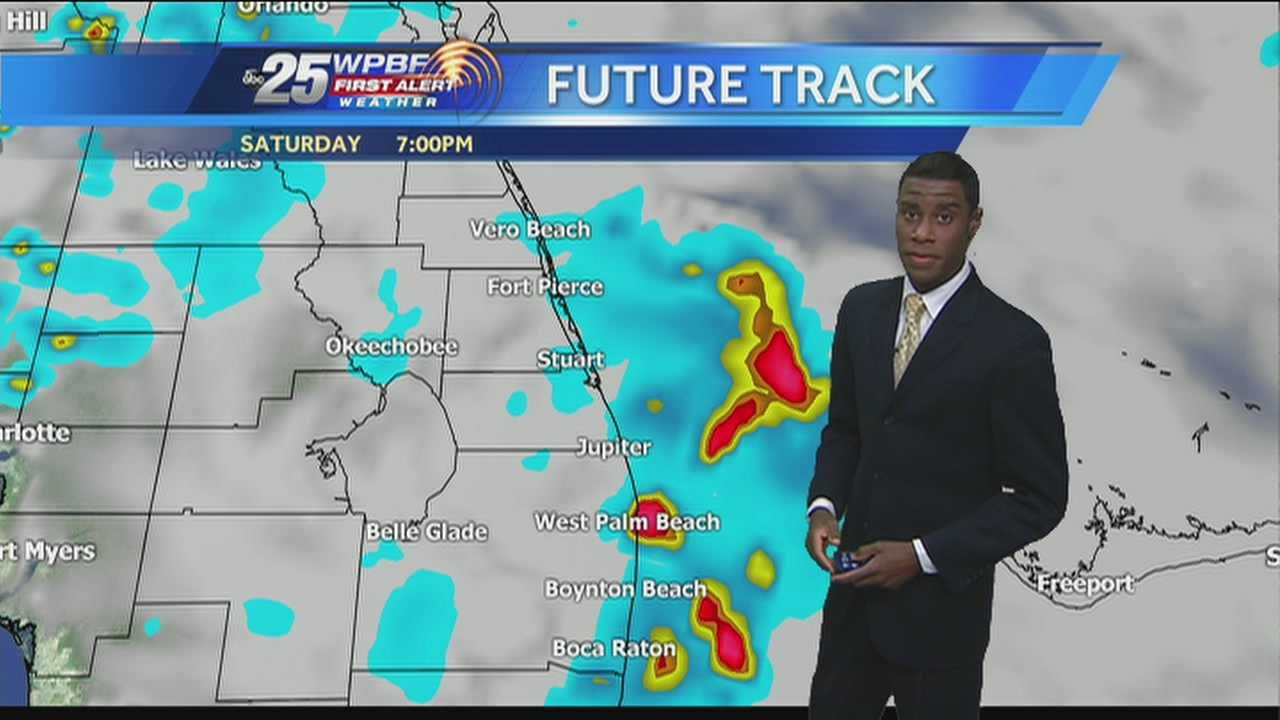 Justin says a repeat of Friday is expected around town Saturday -- hot and wet.