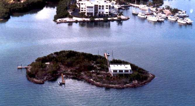 The island is 750 feet from shore.