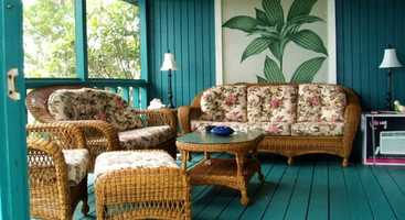French doors lead from the great room to the porch, perfect for watching the sun rise and set.