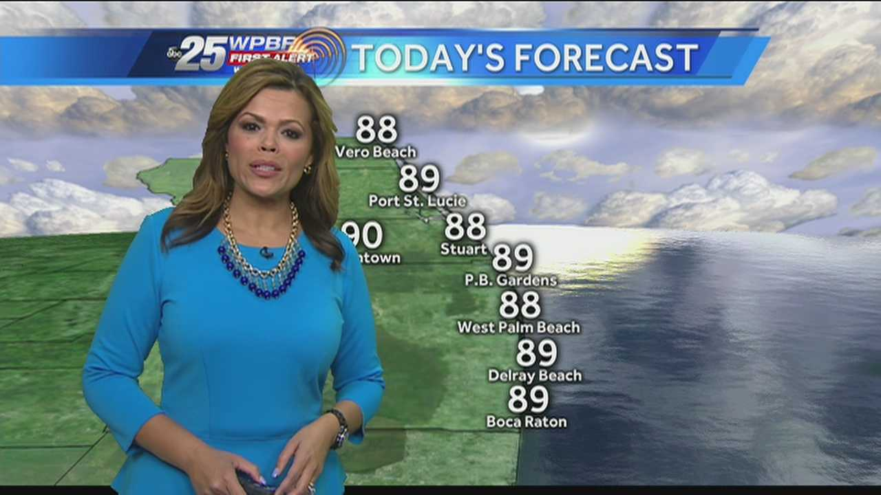 Felicia says another hot and wet summer day is on tap around the Palm Beaches.