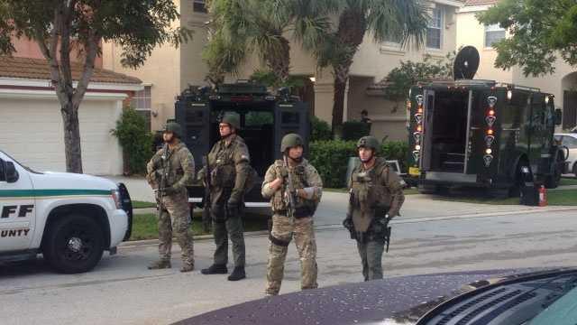 Deputies raided a Royal Palm Beach home Friday morning.