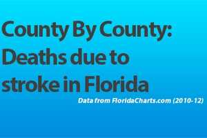 Miami-Dade, Broward and Palm Beach counties have recorded the most deaths due to stroke in Florida. See where your county ranks. (All data from FloridaCharts.com, 2010-12)