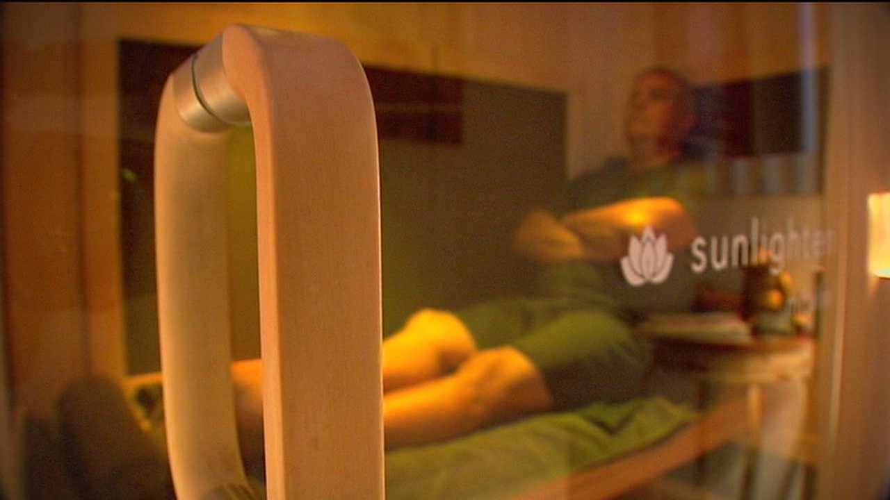 Infrared saunas are part of a new health fad that is starting to catch on.