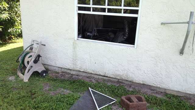 Police found a broken window in the back of the house.