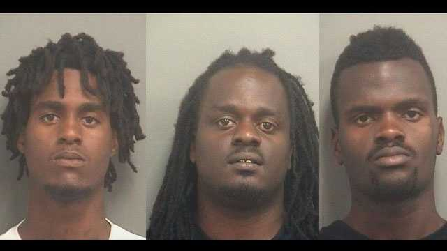 Devontae Colbert, Cornard Jones and Deion Singleton were arrested on robbery charges.