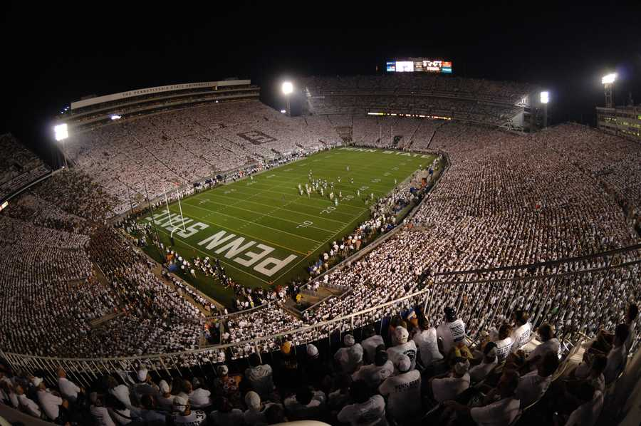 With an official seating capacity of 106,572, Penn State's Beaver Stadium is the second-largest in the United States and the fourth-largest in the world. Whiteout games organized by one of the best student sections in the country make Beaver Stadium one of the toughest places to play for opposing teams.