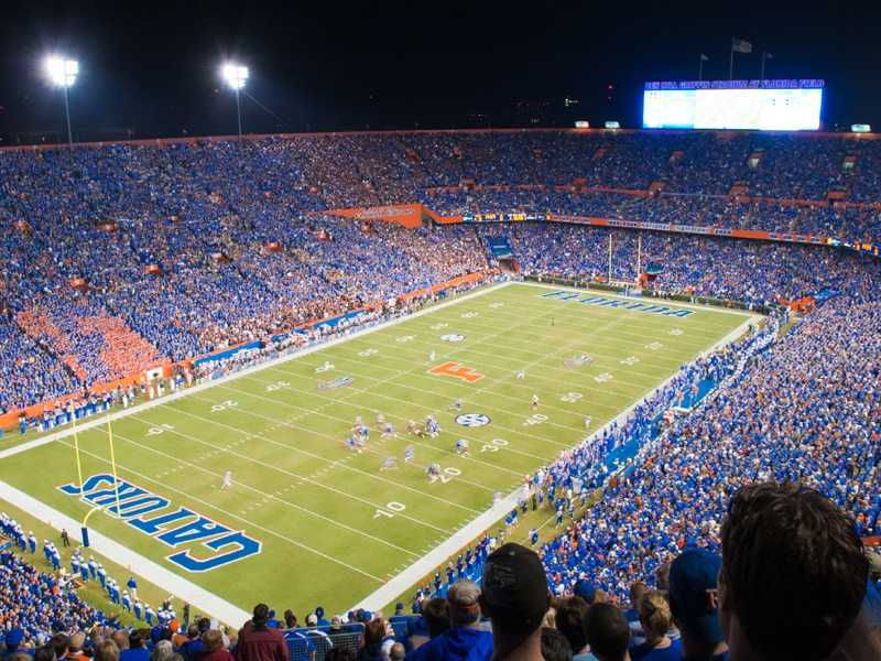 "Ben Hill Griffin Stadium has undergone a series of facelifts since being constructed in 1930, but every college football fan knows who plays in ""The Swamp."" The home of the Florida Gators is the largest stadium in the state of Florida, with an official capacity of 88,548."