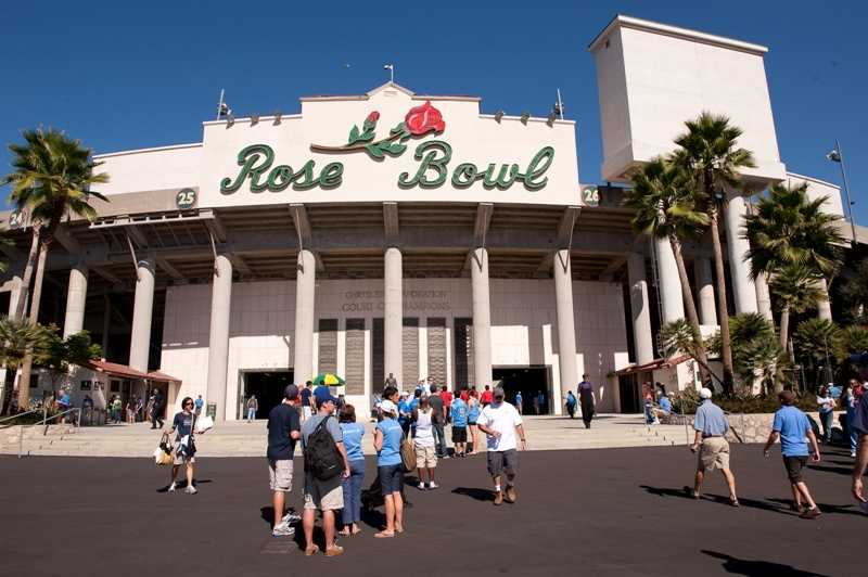 The Rose Bowl may be the most historic stadium name in all of college football. In addition to being home to the UCLA Bruins and the Rose Bowl game, the stadium has hosted 5 Super Bowls and 2 World Cups.