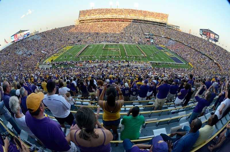 "LSU fans who pack Tiger Stadium are so loud that they once caused an earthquake. In a 7-6 victory over Auburn in 1988, the crowd reaction registered as a legitimate earthquake on the seismograph at the school's geological survey office. No wonder they call the place ""Death Valley."""