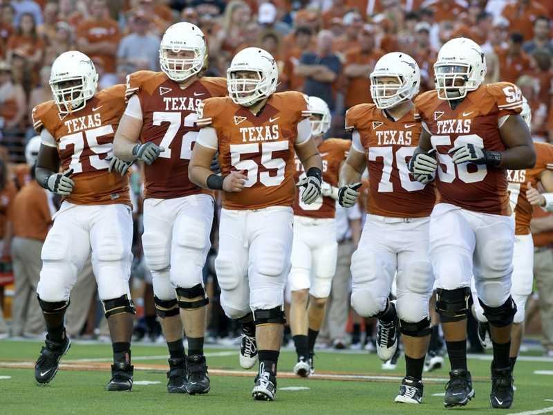 The burnt orange is unmistakable in Texas' home jerseys.