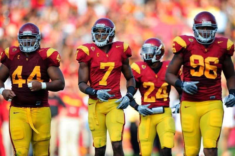 The University of Southern California has long been known for its cardinal and gold uniforms with the Trojan logo on the helmet.