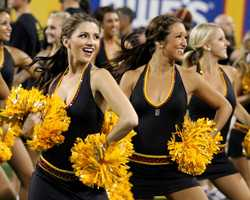 These are definitely better days for the cheerleaders at Arizona State. They've been involved in two separate incidents that made national headlines, including one that led to the program being shut down for a year in 2010.