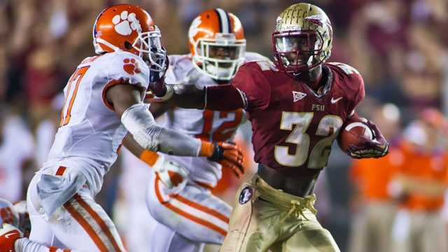 """The winner of this game will likely determine the ACC Atlantic Division. Clemson won the ACC title in 2011 with a 35-30 victory over Florida State, while the Seminoles prevailed last season, 49-37, on their way to the 2012 championship. FSU hasn't won at """"Death Valley"""" since 2001."""