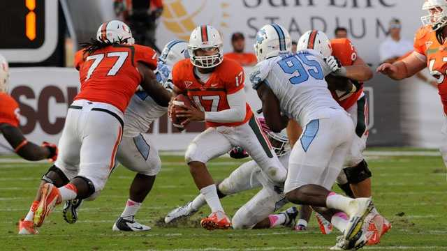 Miami is the preseason pick to win the ACC Coastal Division in 2013. Both teams were tied for first in the division last season, but North Carolina was ineligible to play in the ACC title game and Miami voluntarily withdrew itself while under the auspices of an ongoing NCAA investigation. The Tar Heels are 5-4 against Miami since the Hurricanes joined the ACC in 2004, but Miami was victorious on its last visit to North Carolina.