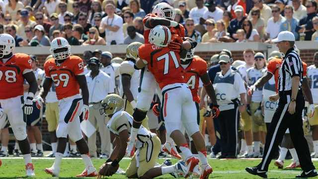 Georgia Tech finished in a three-way tie with Miami and North Carolina in the Atlantic Coast Conference Coastal Division last season, but the Yellow Jackets earned the nod to play for the championship. Miami knocked off the Yellow Jackets, 42-36, in overtime at Georgia Tech last year.
