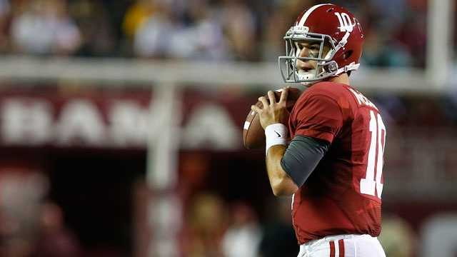 Alabama quarterback AJ McCarron has led the Crimson Tide to consecutive national championships and a 24-2 record as a starter. McCarron set a school record with 26 touchdown passes and led the nation in passing efficiency last season.