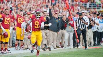 USC wide receiver Marqise Lee caught 25 touchdowns for the Trojans last season on his way to becoming the Pacific 12 Conference offensive player of the year. Lee also won the 2012 Biletnikoff Award, presented to the most outstanding wide receiver in college football.