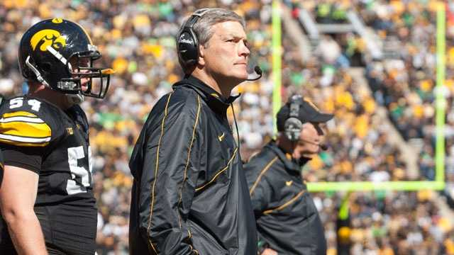 Iowa missed out on a bowl game last season for the first time since 2007 and only the fourth time under Kirk Ferentz. The Hawkeyes' 4-8 record was also their worst finish since 2000. Although the fans still seem to back Ferentz, they may not for long if the Hawkeyes endure another losing season.