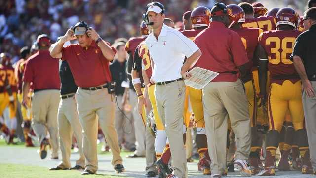 Lane Kiffin guided the Trojans to a 10-win season in his second year at USC in 2011, but the team slid to 7-6 last season despite a No. 1 preseason ranking. If Kiffin can't get the Trojans back on track in 2013, he could be shown the door.