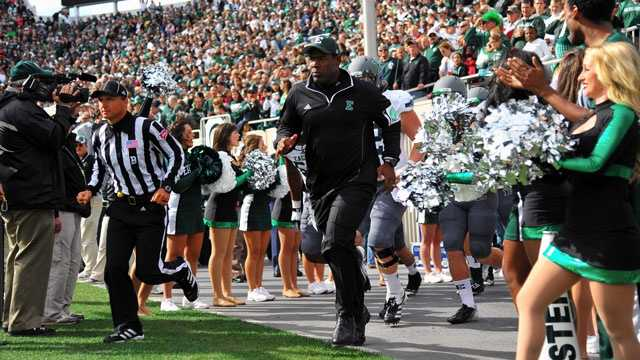 Ron English has 10 wins in four seasons at Eastern Michigan. Since the resignation of Jim Harkema midway through the 1992 season, no Eastern Michigan head coach has lasted more than five seasons. Barring an impressive turnaround, there's no reason to believe English will fare any better.