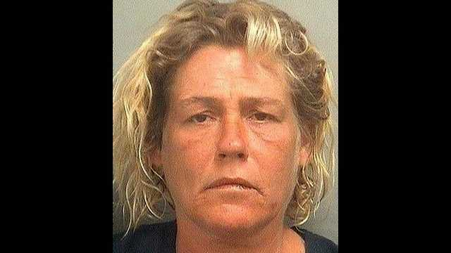 Kelly Ann Blevins is accused of defecating near a gas station food stand in full view of the customers there.