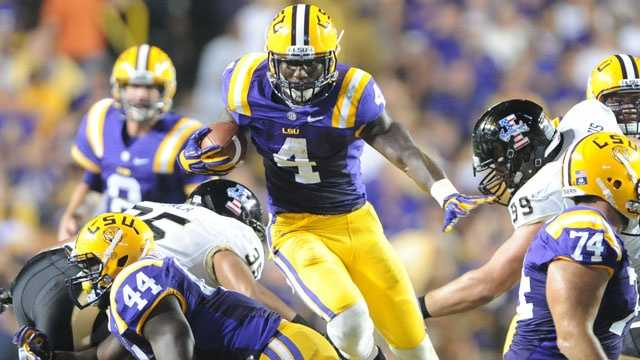 LSU running back Jeremy Hill stepped in for Alfred Blue after a season-ending injury in the third game of 2012. Now, Blue will be asked to lead the rushing attack for the Tigers while Hill is suspended after getting into a bar fight in April. Blue has rushed for 910 yards and 10 touchdowns in his LSU career. Hill rushed for 755 yards and 12 touchdowns as a freshman last year.