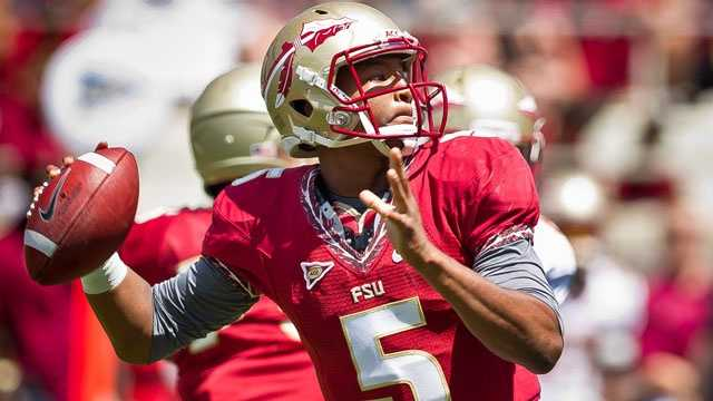 Redshirt freshman Jameis Winston is the heir apparent to E.J. Manuel as starting quarterback for the Florida State Seminoles. Manuel became the first overall quarterback selected in this year's NFL Draft. Winston practically won the job after completing 12-of-15 passes for 205 yards and two touchdowns.