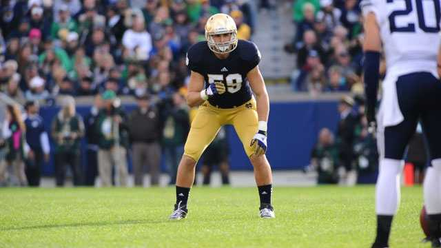 Notre Dame junior linebacker must fill the void left by the departure of Manti Te'o, who led the Fighting Irish in tackles (103) and interceptions (seven) on their way to an undefeated regular season. Grace led Notre Dame in special team tackles last season.