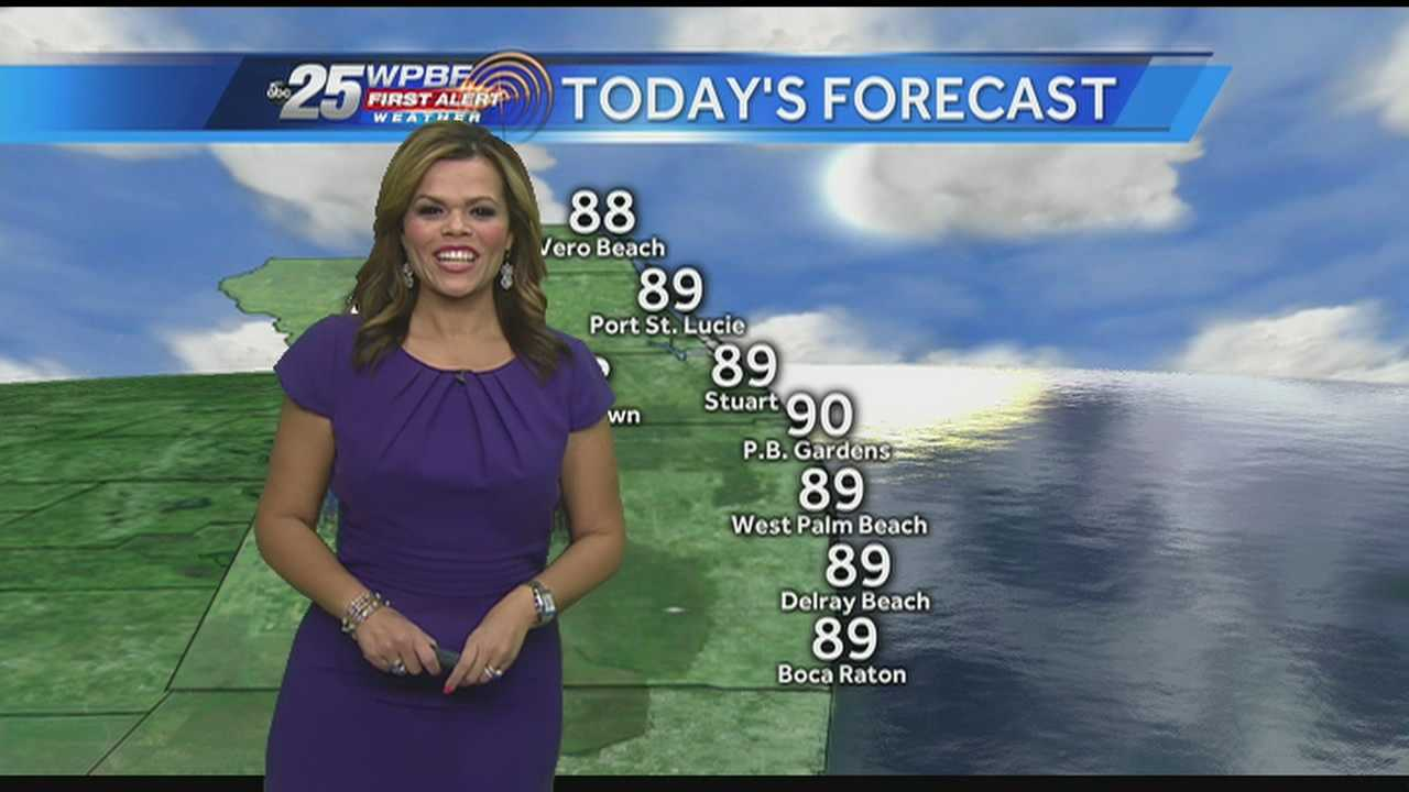 Felicia Rodriguez says it will be another dry start to the day.