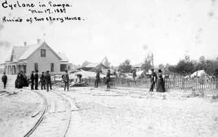 1887: Hurricane near Tampa flattens homes.