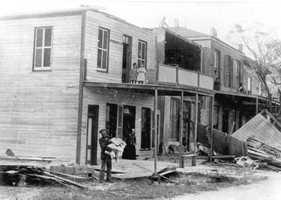 1896: Hurricane near Cedar Key damages buildings.
