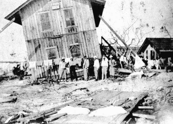 1909: Hurricane damages a home in Marathon.