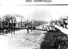 1921: Another shot of damage from a hurricane that hit Tampa.