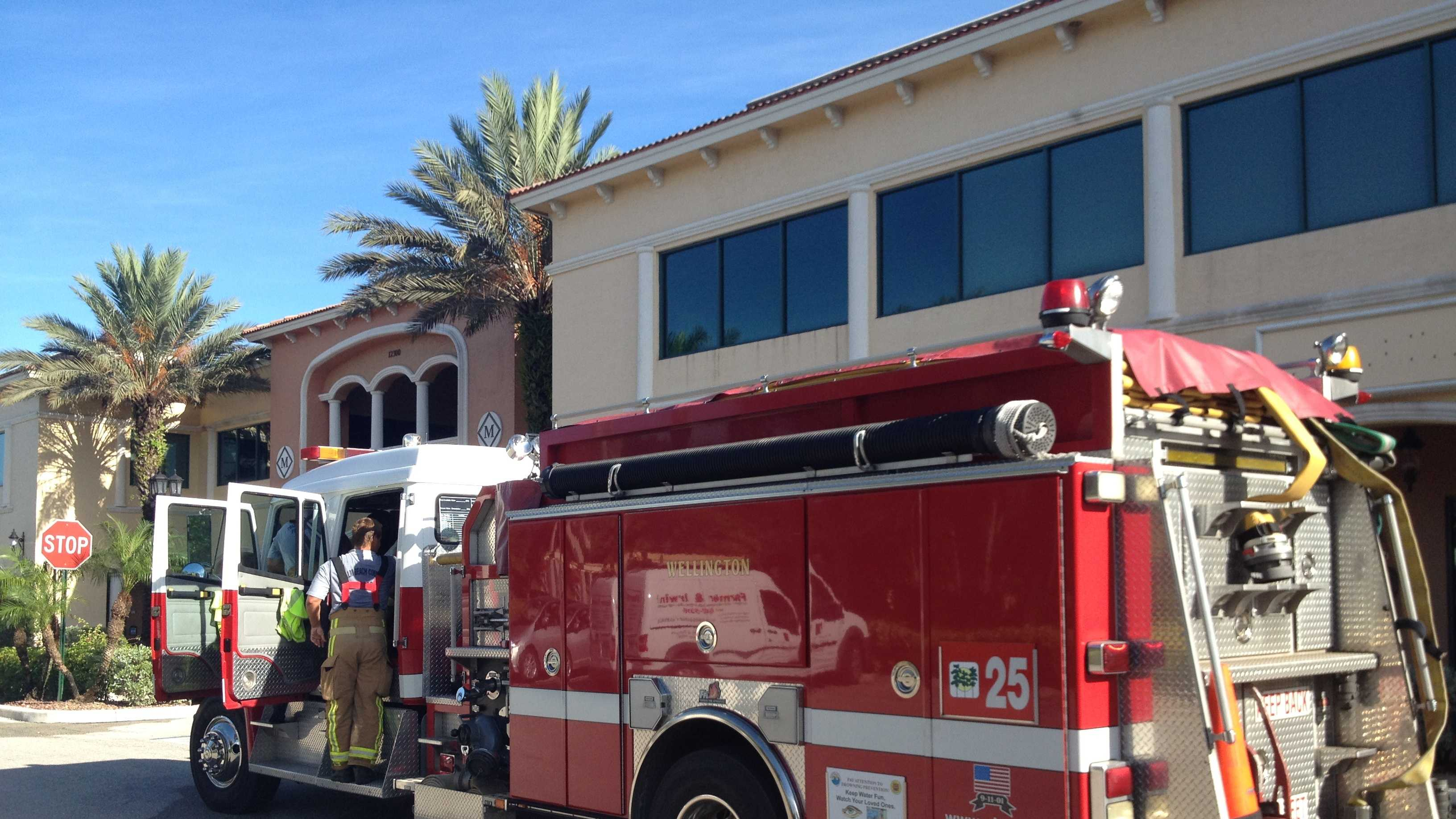 A small fire started at Eye Candy Lash Lounge in Wellington.