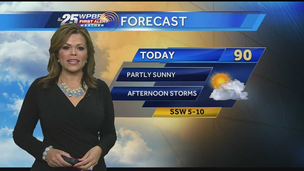 Felicia says afternoon showers are on tap around South Florida once again Monday.