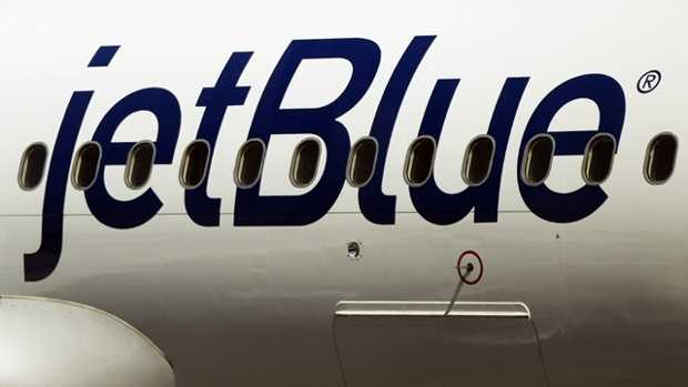 JetBlue tight logo on plane