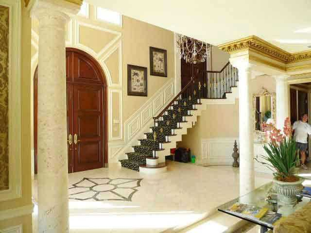 From this view of the foyer, you can see the staircase.