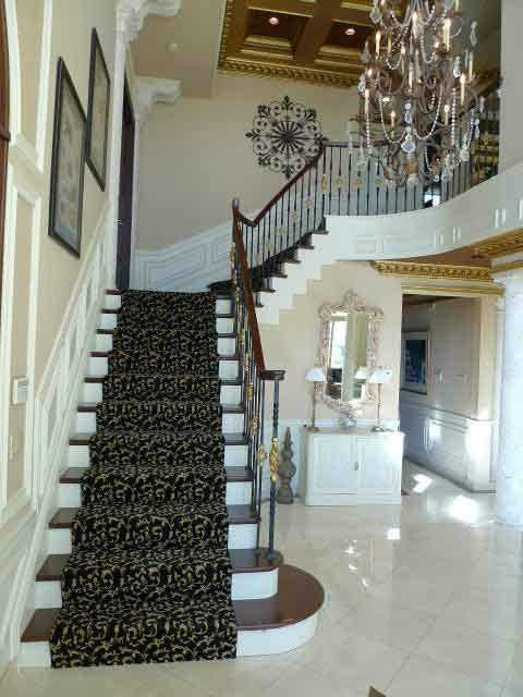 Rising staircase.