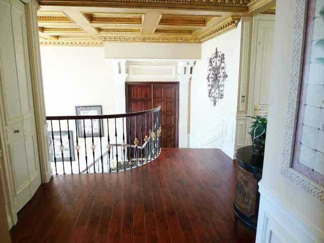 Hardwood flooring on the second floor.