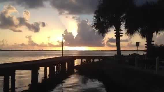 WPBF 25 News reporter Chris McGrath shot this very cool time-lapse video of the sun rising in Stuart on Thursday.