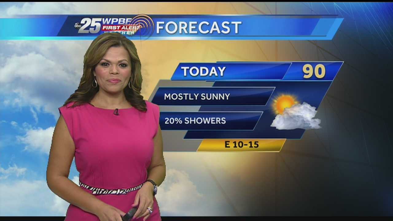 Felicia says more sunshine and hot weather is in store for your Tuesday.