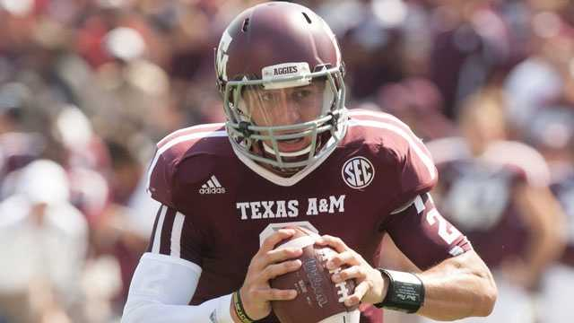 Texas A&M quarterback Johnny Manziel became the first freshman to win the Heisman Trophy last year. He rushed for 1,410 yards last season and was thrust into the national spotlight after spearheading Texas A&M's upset victory of Alabama last season.