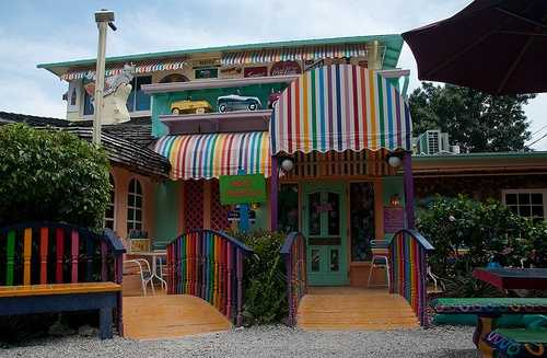 The Bubble Room restaurant and emporium on Captiva Island: The world famous restaurant followed a modest beginning of just a few tables in the front room of the home of the Farqhuarson family.  The restaurant has been on its present site since 1979.