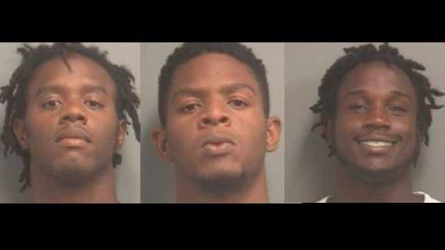 Tyrell Alexander, Jamar Alexander and Willie Hutchinson were arrested in West Palm Beach.
