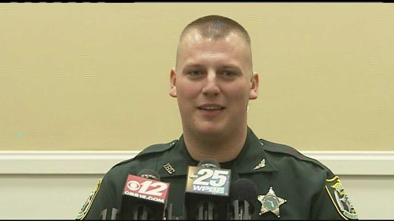 Deputy Brian Bell says he's glad to be back at work after being dragged by a suspect's car.
