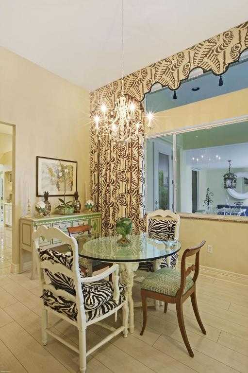 Unique dining room.