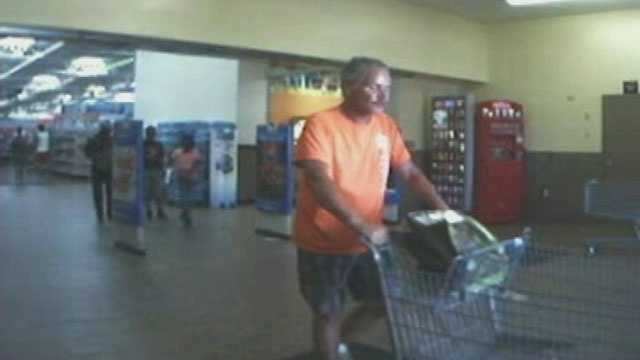 Police say this man stole power tools from the bed of a pickup truck outside a Walmart in Port St. Lucie.
