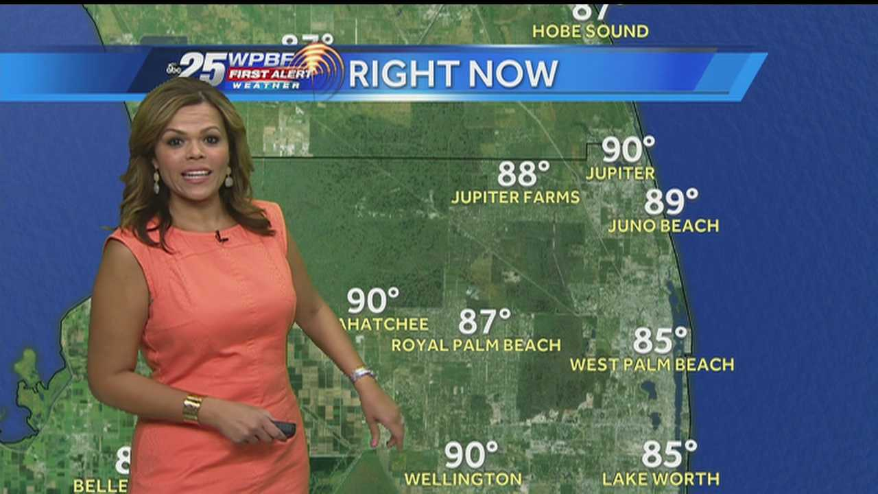 Felicia says another hot afternoon is on tap around South Florida, and wet weather is again possible.