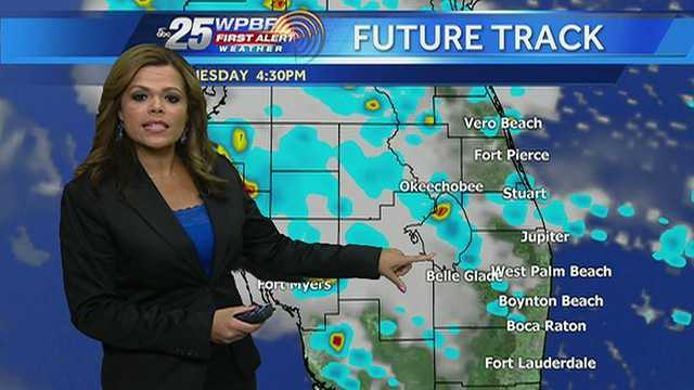 Felicia says showers are possible in some pockets of the viewing area Wednesday.