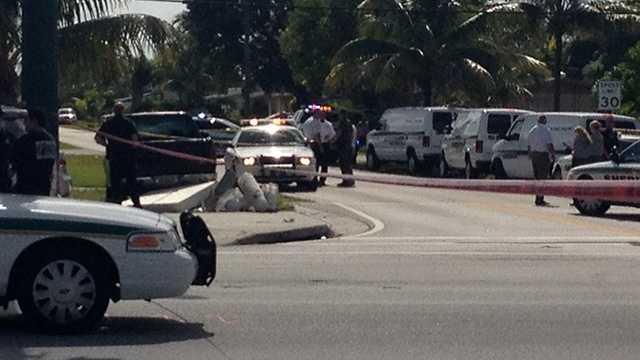 WPB Gun-wielding suspect scene